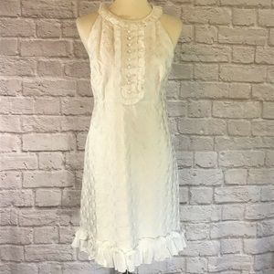 Lilly Pulitzer Off white embroidered dress size 12